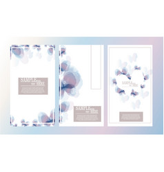 Abstract watercolor butterfly template design set vector