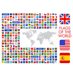 All official national flags world square vector