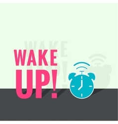 Background with alarm clock vector image