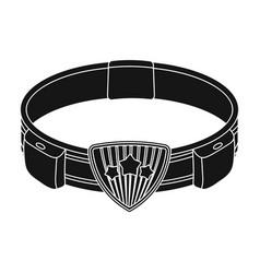 Belt single icon in black stylebelt vector