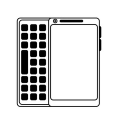 Blank screen cellphone with buttons icon imag vector