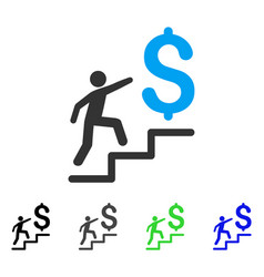 Business stairs flat icon vector