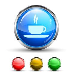 Cafe Button vector image