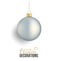 christmas ball realistic christmas ball of silver vector image