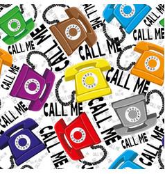 colored retro telephones vector image