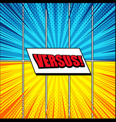 Comic versus colorful concept vector