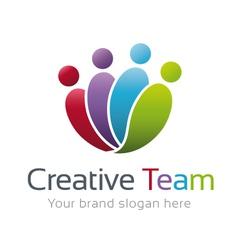 Creative Team Logo Template vector