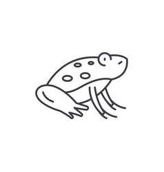cute frog line icon concept cute frog vector image