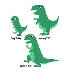 Cute Tyrannosaurus Family vector