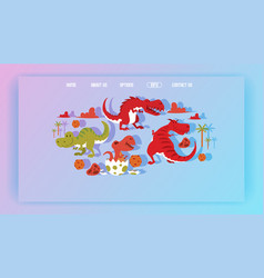 dinosaur web-page tyrannosaurus rex cartoon vector image