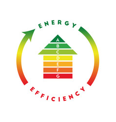Energy efficiency rating concept vector