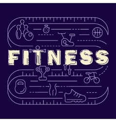 Fitness banner for gym vector image