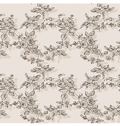 floral seamless rose rustic vector image