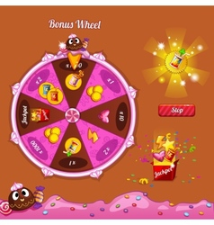 Fortune Wheel for the game interface vector
