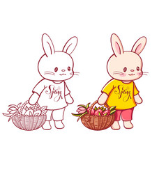 funny cartoon bunny vector image