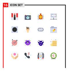 Group 16 modern flat colors set for design vector