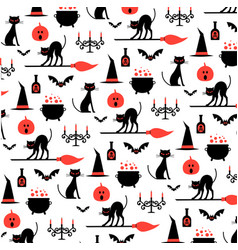 Halloween pattern on white vector