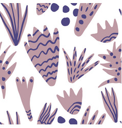Hand drawn blots backdrop contemporary seamless vector
