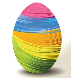Handcraft Easter egg vector