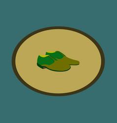 Icon in flat design fashion footwear pair of men vector