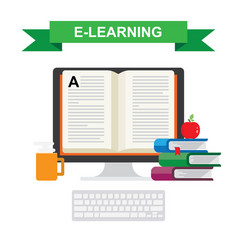 icon of distance education and e-learning vector image