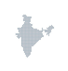 india country dot map vector image