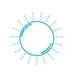 line nice sun light ray weather vector image