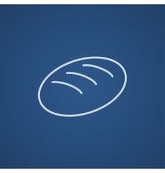 Loaf line icon vector image