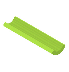 Long green celery icon isometric style vector