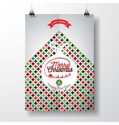 Merry Christmas Holiday and Happy New Year vector image