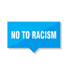 No to racism price tag vector