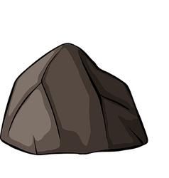 One grey rock vector image