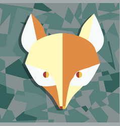 Paper foxes dark turquoise poster vector