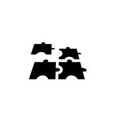 puzzle icon graphic design template vector image