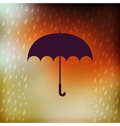 Retro umbrella symbol on hipster background Retro vector
