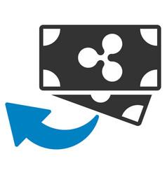 Ripple cashback flat icon vector