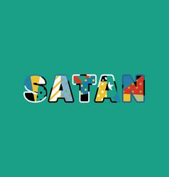 Satan concept word art vector