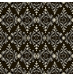 Seamless pattern ornament with stylized geometric vector