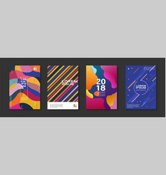 set 4 minimal dynamic template design abstract vector image