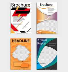 Set abstract brochure template flyer layout vector