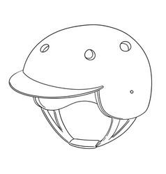 Set of bicycle helmet vector