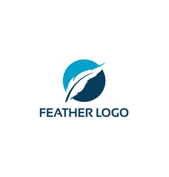 simple feather logo designs template write logo vector image