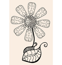 Sketch of abstract flower vector image