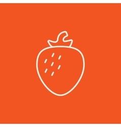 Strawberry line icon vector image
