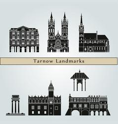 tarnow landmarks vector image