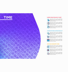 time concept with thin line icons vector image