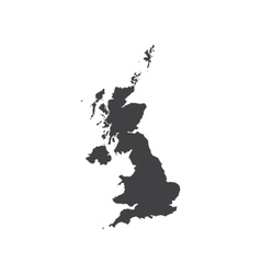 United Kingdom of Great Britain map silhouette vector