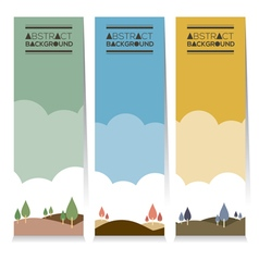 Vertical Banner Set Of Three Graphic Natural Theme vector image