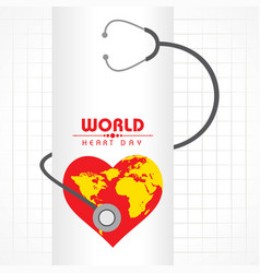 World heart day background stock vector