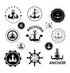Anchor symbols set vector image vector image